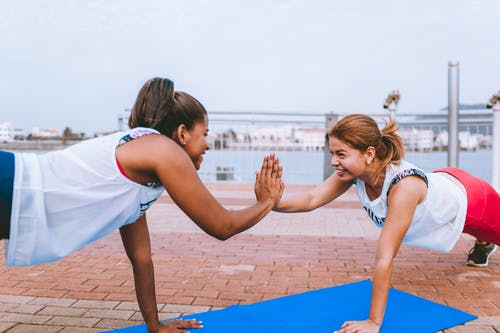 Two Women Working out