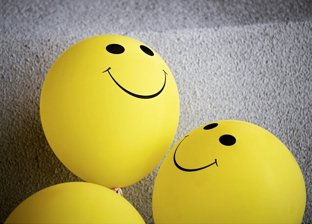 Smiley faces on ballons